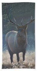 First Light - Bull Elk Beach Towel