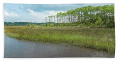 Beach Towel featuring the photograph Florida Marshland by John M Bailey