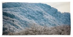 Frost On The Mountain Beach Towel