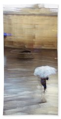 Beach Towel featuring the photograph Gentle Rain by Alex Lapidus