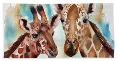Giraffes Beach Sheet