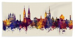 Halberstadt Germany Skyline Beach Towel