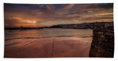 Harbour Sunset - St Ives Cornwall Beach Sheet
