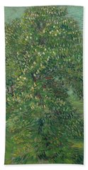 Horse Chestnut Tree In Blossom Beach Towel