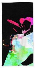 Ice Cube Watercolor Beach Towel