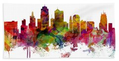 Kansas City Missouri Skyline Panoramic Beach Towel