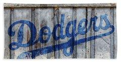 La Dodgers Rustic Beach Towel