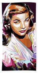 Lauren Bacall Beach Towel