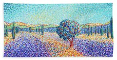 Lavender Field In Provence Beach Sheet