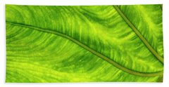 Leaf Design Beach Towel