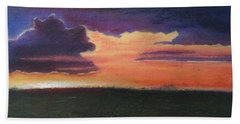 Marsh Sunset Beach Towel