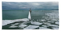 Milwaukee Breakwater Lighthouse Beach Towel