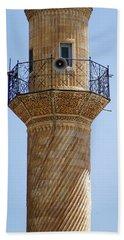 Minaret Of Ulu Cami Mosque Beach Towel