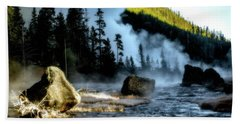 Beach Towel featuring the photograph Misty Morning by Pete Federico