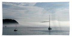 Morning Mist On Frenchman's Bay Beach Towel