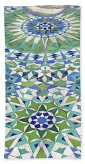 Mosaic Exterior Decorations Of The Hassan II Mosque Beach Towel