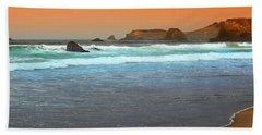 North Coast Morning Glowing Fog Beach Towel