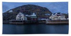 Norwegian Seaside Town Nyksund Beach Towel