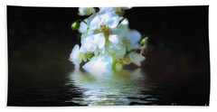 Orchid Reflection Beach Towel