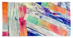 Beach Towel featuring the painting Out Of Site, Out Of Mind by Tracy Bonin