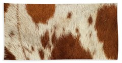 Beach Towel featuring the photograph Pattern Of A Longhorn Bull Cowhide. by Rob D Imagery