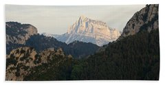 Beach Towel featuring the photograph Pena Montanesa by Stephen Taylor