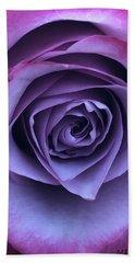 Purple Rose Beach Towel
