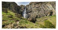 Beach Towel featuring the photograph Raysko Praskalo Waterfall, Balkan Mountain by Milan Ljubisavljevic