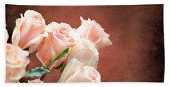 Roses Bouquet Beach Sheet