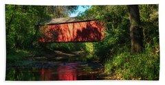 Sandy Creek Covered Bridge Beach Towel