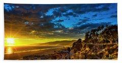 Santa Monica Bay Sunset - 10.1.18 # 1 Beach Towel