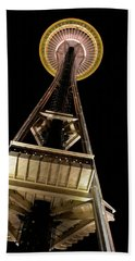 Seattle Space Needle At Night Beach Towel