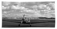 Silver Airplane Duxford England Beach Towel