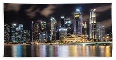 Singapore By Night Beach Towel