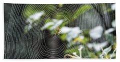 Spider At Work Beach Towel
