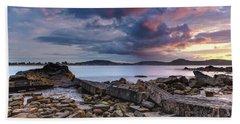 Stormy Sunrise Seascape Beach Sheet