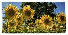 Sunlit Sunflowers Beach Sheet