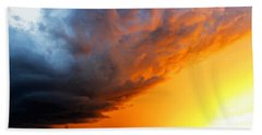 Sunset Storm Beach Towel