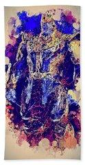 Thanos Watercolor Beach Towel