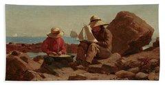 The Boat Builders, 1873 Beach Towel