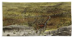 The City Of Chicago, 1868 Beach Towel
