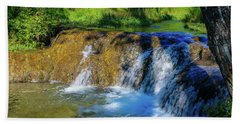 The Springs In It's Summer Green, Big Hill Springs Provincial Re Beach Towel