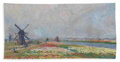 Tulip Fields Near The Hague Beach Towel