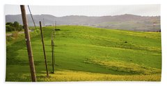 Tuscan Landscapes. Hills In The Spring Beach Towel