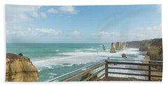 Twelve Apostles Sea Rocks Beach Towel