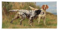 Two English Setters Beach Towel