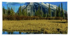 Vermillion Lakes, Banff National Park, Alberta, Canada Beach Sheet