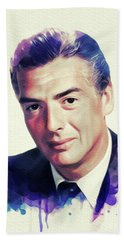 Victor Mature, Vintage Hollywood Star Beach Towel