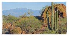 Beach Sheet featuring the photograph View To Four Peaks  by Lynda Lehmann