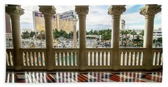 Beach Towel featuring the photograph Views Of Las Vegas Nevada Strip In November by Alex Grichenko